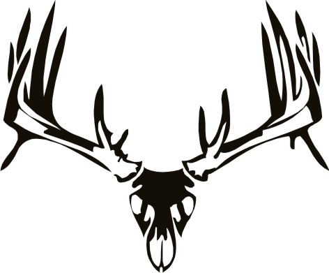 European Deer Skull Mount Decals Stickers Tattoo additionally Deer Scene Clipart 26079 together with Clipart DT6A9knT9 further Buck Coloring Pages likewise Fusils Chasse. on whitetail deer silhouette clip art