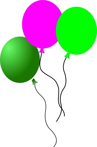 Party Balloons clip art - vector clip art online, royalty free ...
