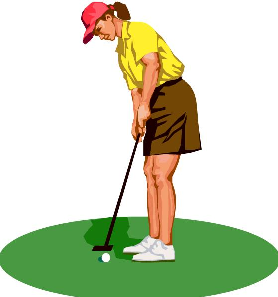 Lady Golfer Clip Art - Cliparts.co