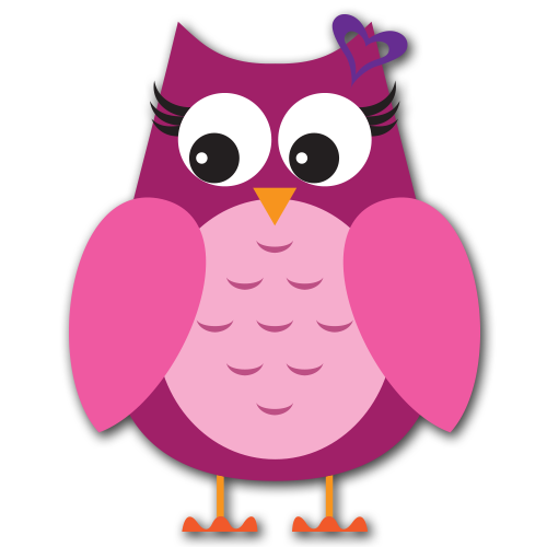Pink Owl Clipart - Cliparts.co
