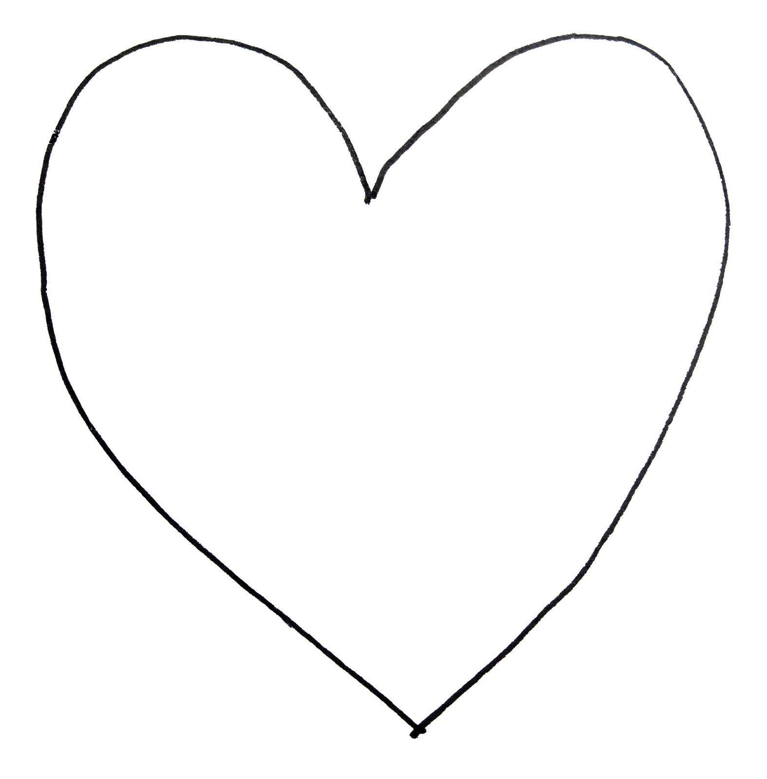 Printable Heart Shape Template - ClipArt Best - Cliparts.co