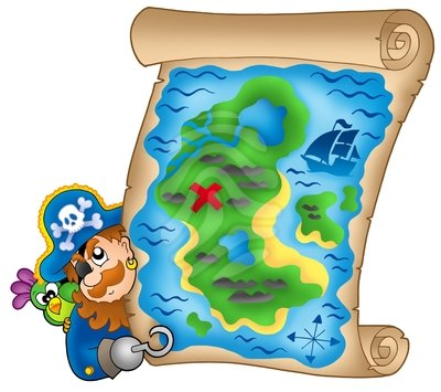 Pirate Map Picture - Cliparts.co