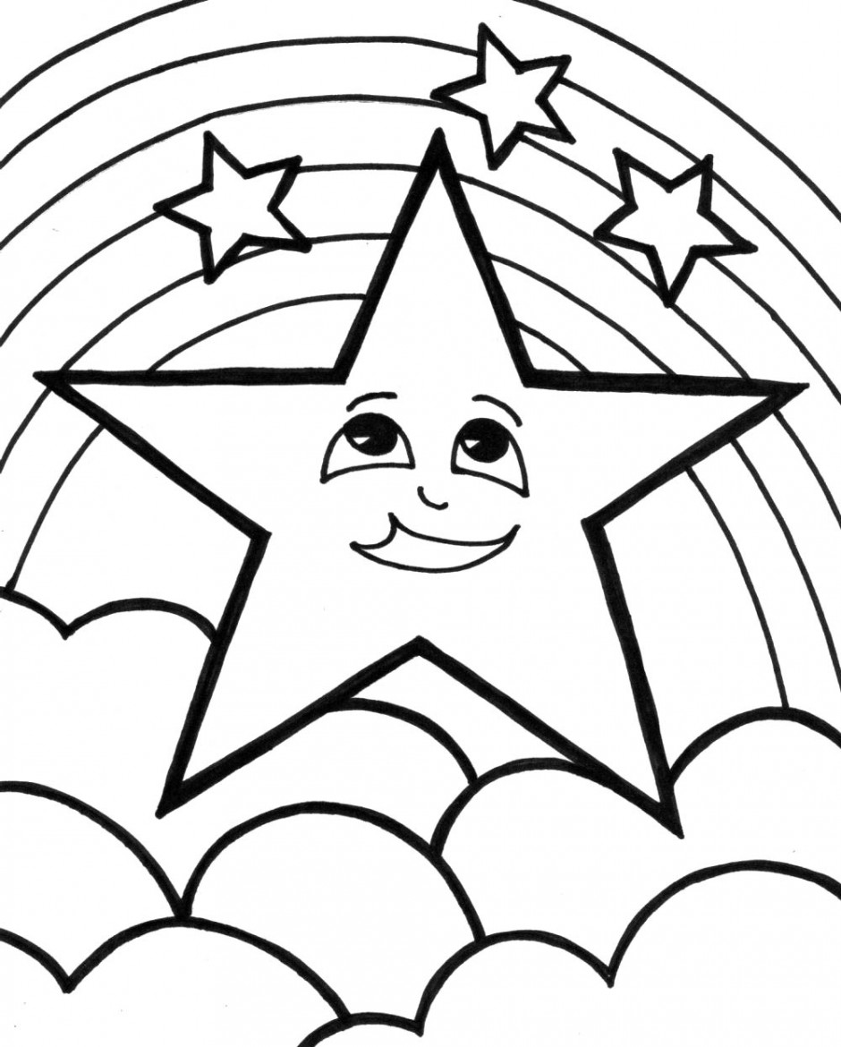 coloring pages for stars - photo#25