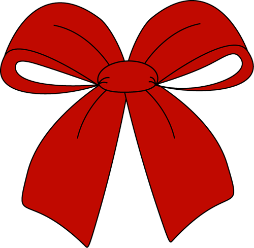 Red Christmas Bow Clip Art - Red Christmas Bow Image