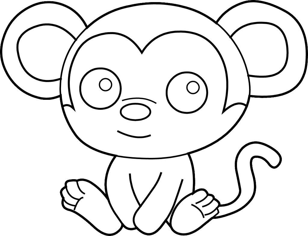 Coloring pages monkey - Coloring Pages Monkey Face Printable Coloring Sheet Anbu