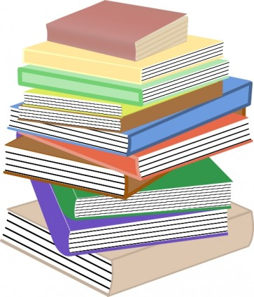 Stack Of Books clip art Vector clip art - Free vector for free ...