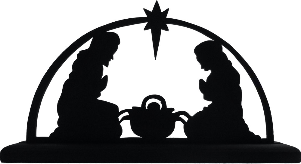Nativity Scene Silhouette | Scroll Saw | Pinterest