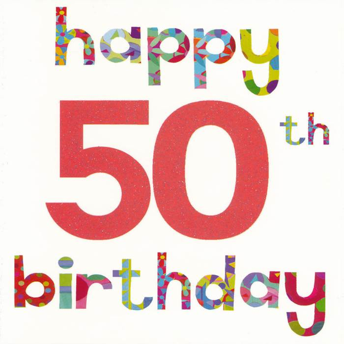 50th Birthday Logo Clipart 1