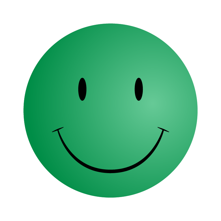 Green Smiley Face Png