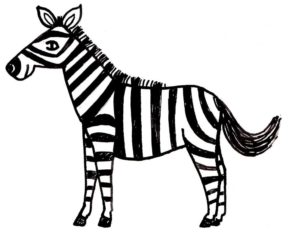 Coloring Painting Zebra