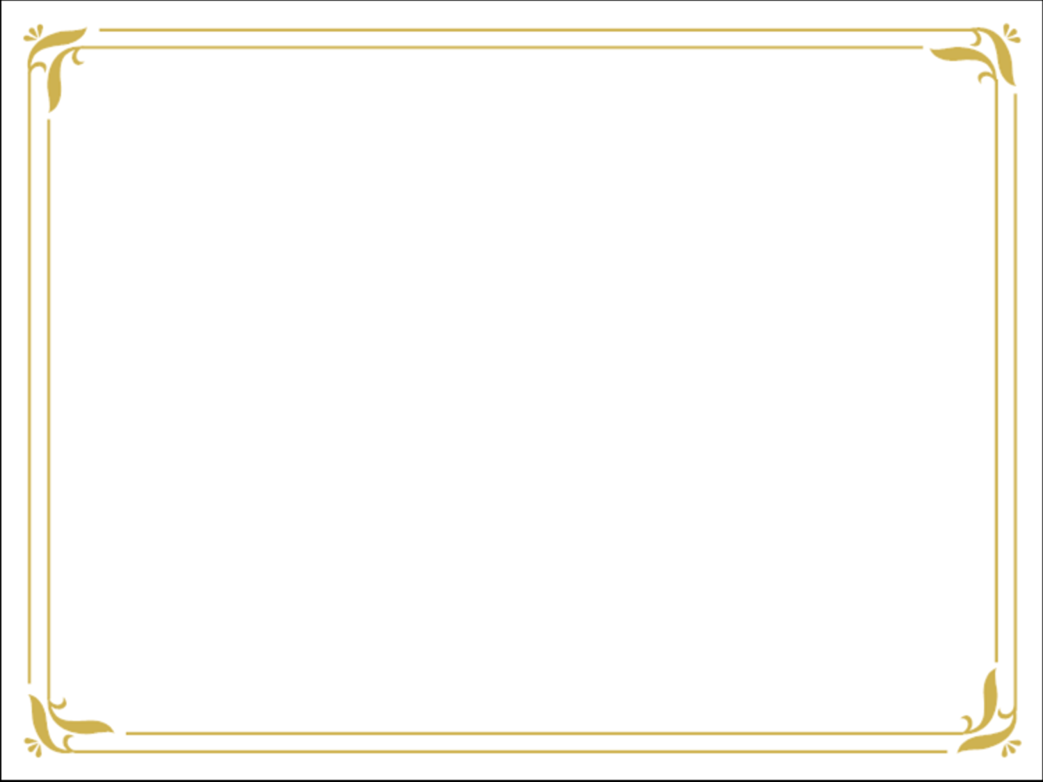 Free Powerpoint Template Simple Gold Certificate Border