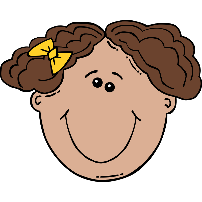 Clipart - Girl Face Cartoon