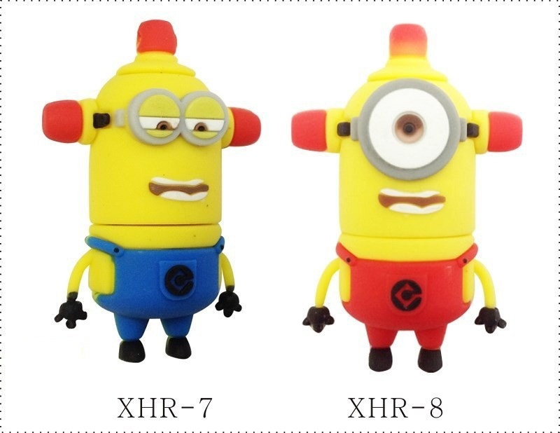 wholesale 50 pcs/lot interesting Family Cartoon Gift Minions USB ...
