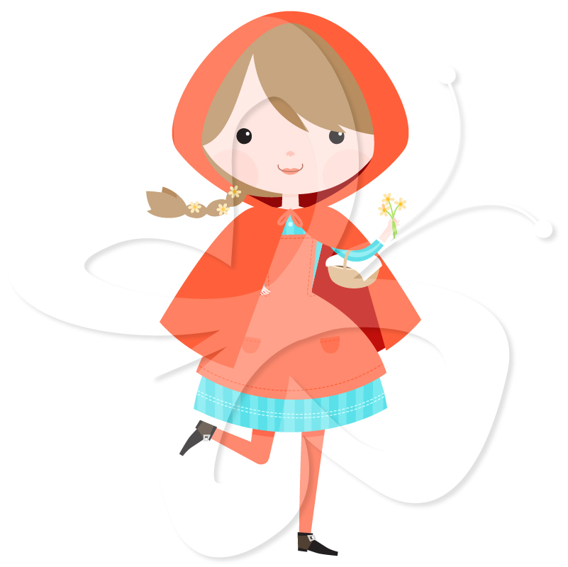Little Red Riding Hood Clipart Set - Creative Clipart Collection