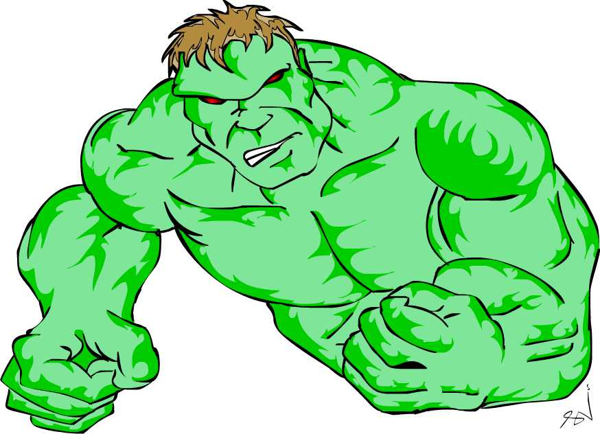 It's just a picture of Monster Incredible Hulk Clipart