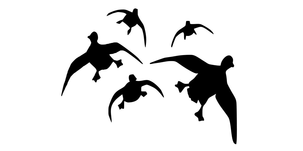 Duck Hunting Clipart Black And White