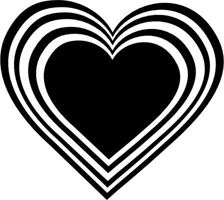 Clip Art Black and White Heart Necklace | Free Clip Art from Pixabella