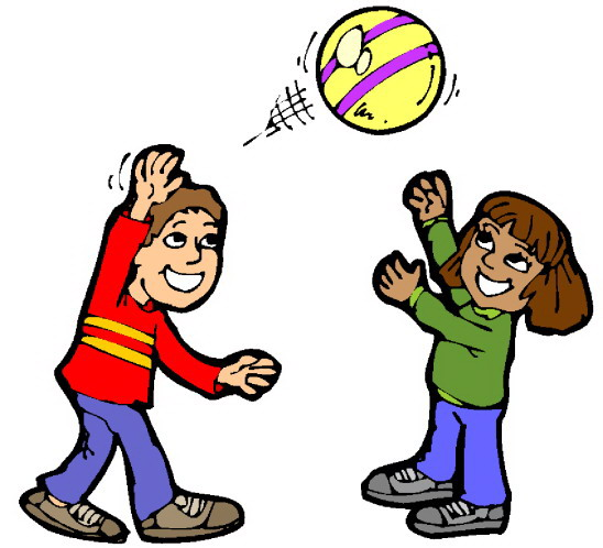 Kids Playing Games Clip Art Kids playing at recess clipart