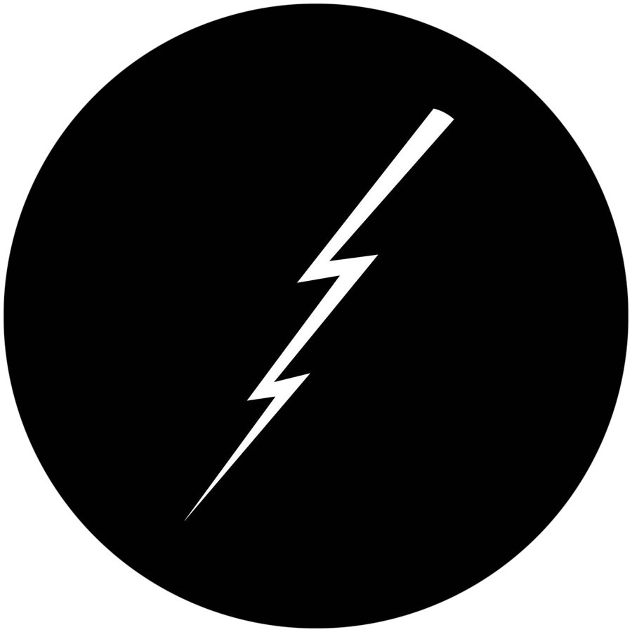 Lightning Bolt Thin Apollo Gobo 1153