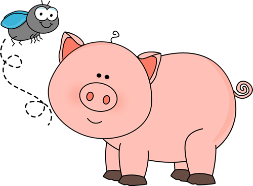 Fly and Pig Clip Art - Fly and Pig Image