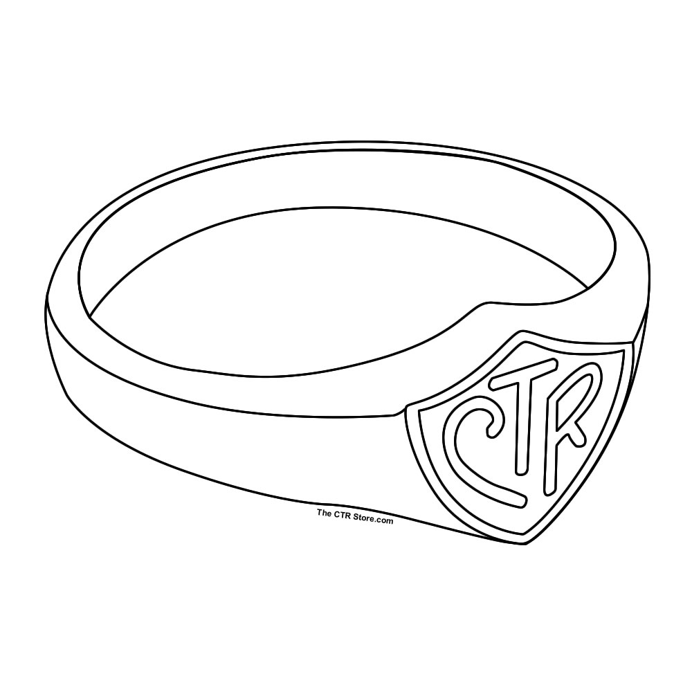 R Is For Ring Coloring Pages Ctr Shield Printable -...