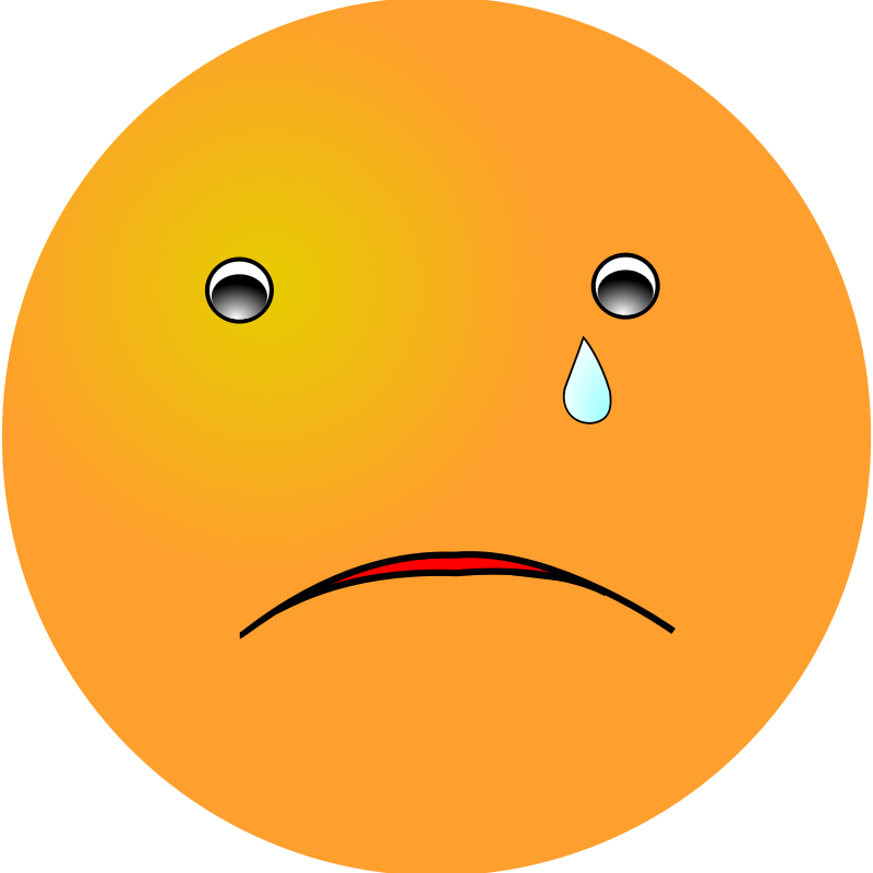 Clipart - Smiley: Cry