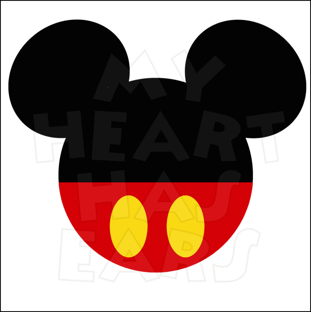 Mickey Mouse Face Vector Cliparts Co