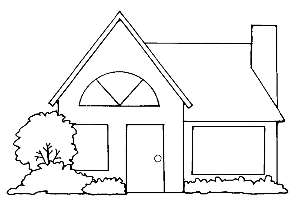 Brick House Clipart Black And White Home Design Plan