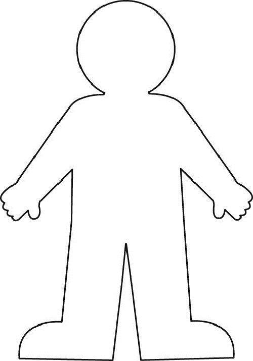 Effortless image pertaining to human body outline printable