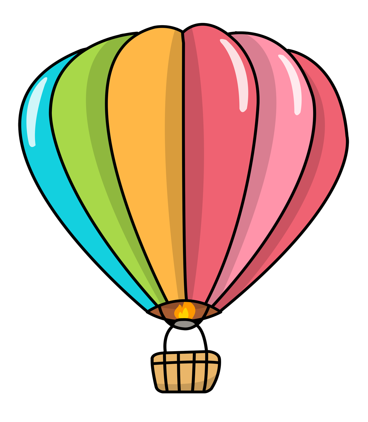 Colorful Hot Air Balloon Clipart   Clipart Panda - Free Clipart Images