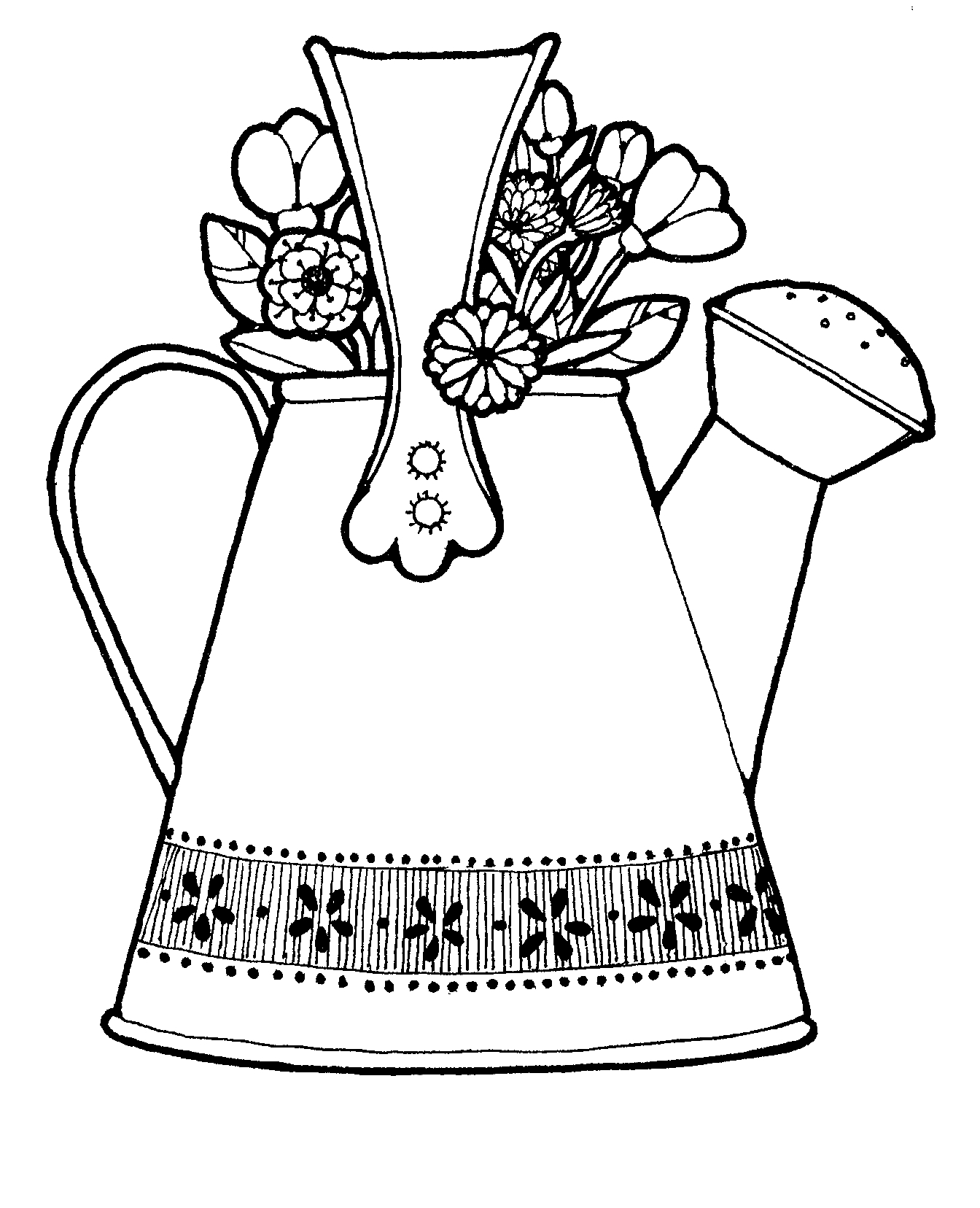 watering flowers coloring pages - photo#29