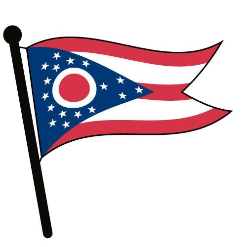 Ohio Waving Flag Clip Art