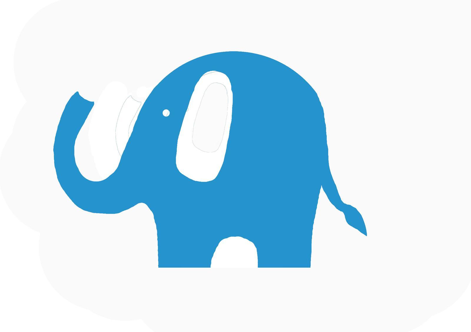 Elephant Template - ClipArt Baby Elephant Template