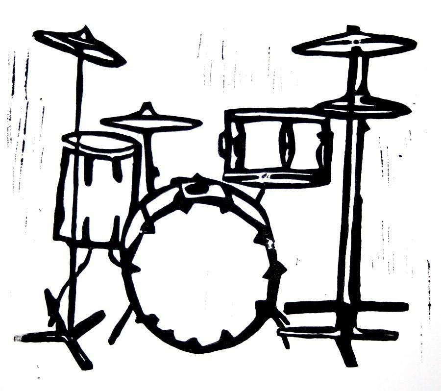 Clip Art Of Yamaha Drum Set