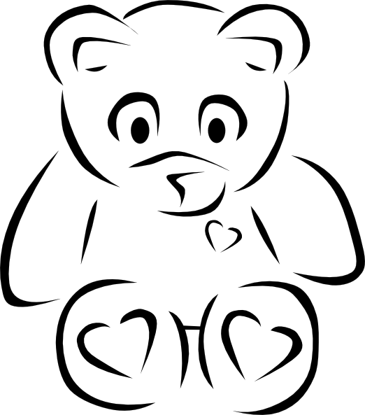 Teddy Bear Clip Art Black And White - Cliparts.co