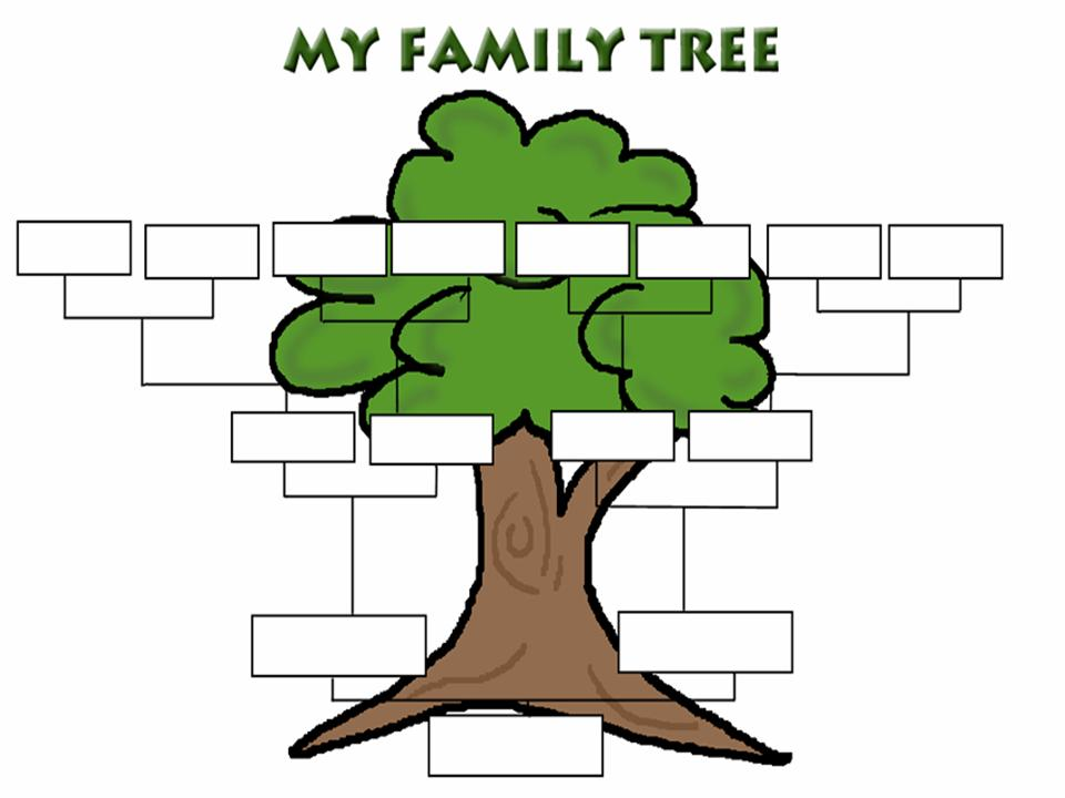 Cartoon Family Tree Template | lol-