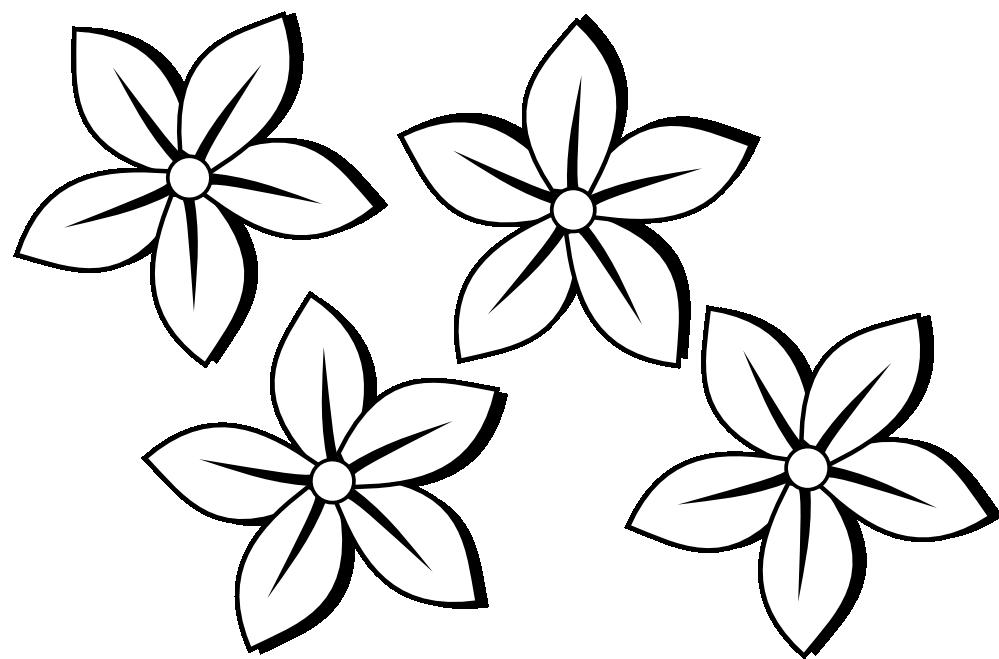 Spring Flower Clip Art Black And White Flower Black And White Clip