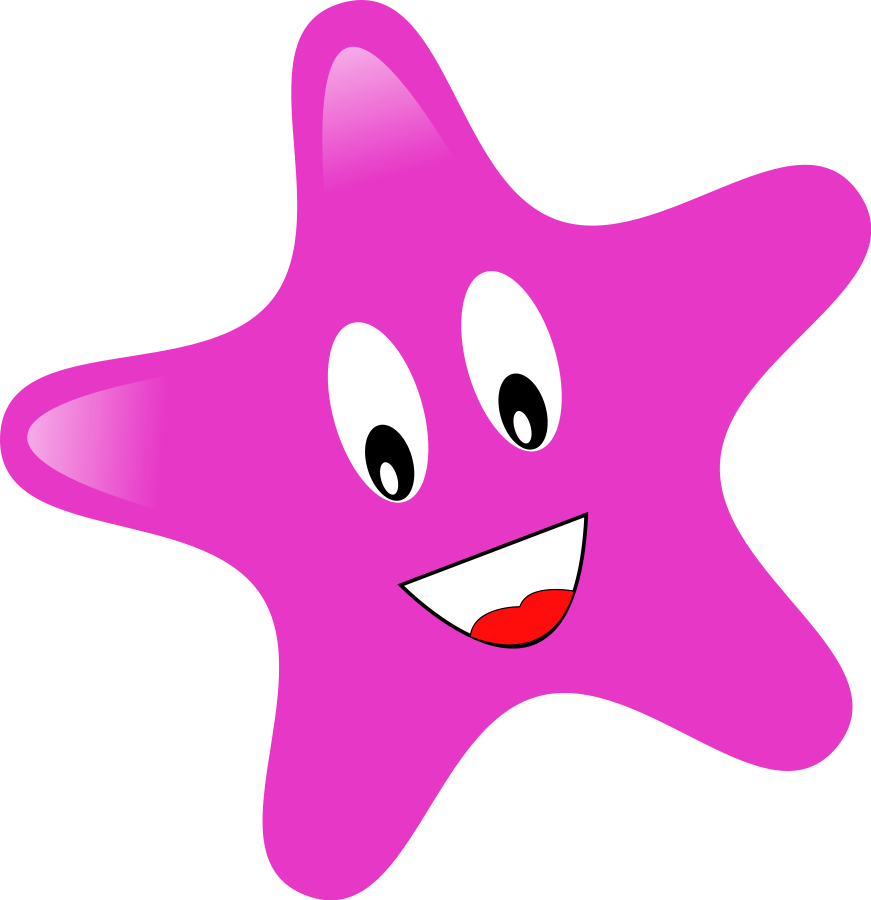 Pink Star SVG Vector file, vector clip art svg file
