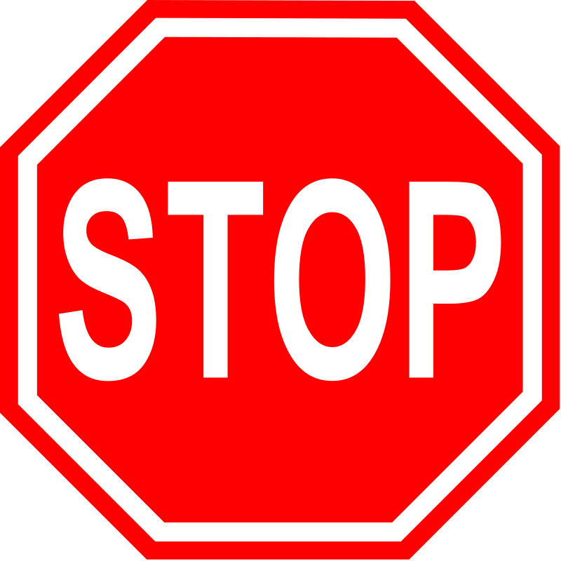 Stop Sign Clipart Black And White | Clipart Panda - Free Clipart ...