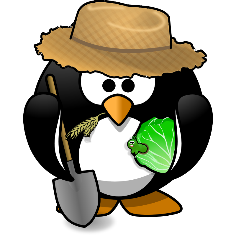 Clipart - Farmer penguin