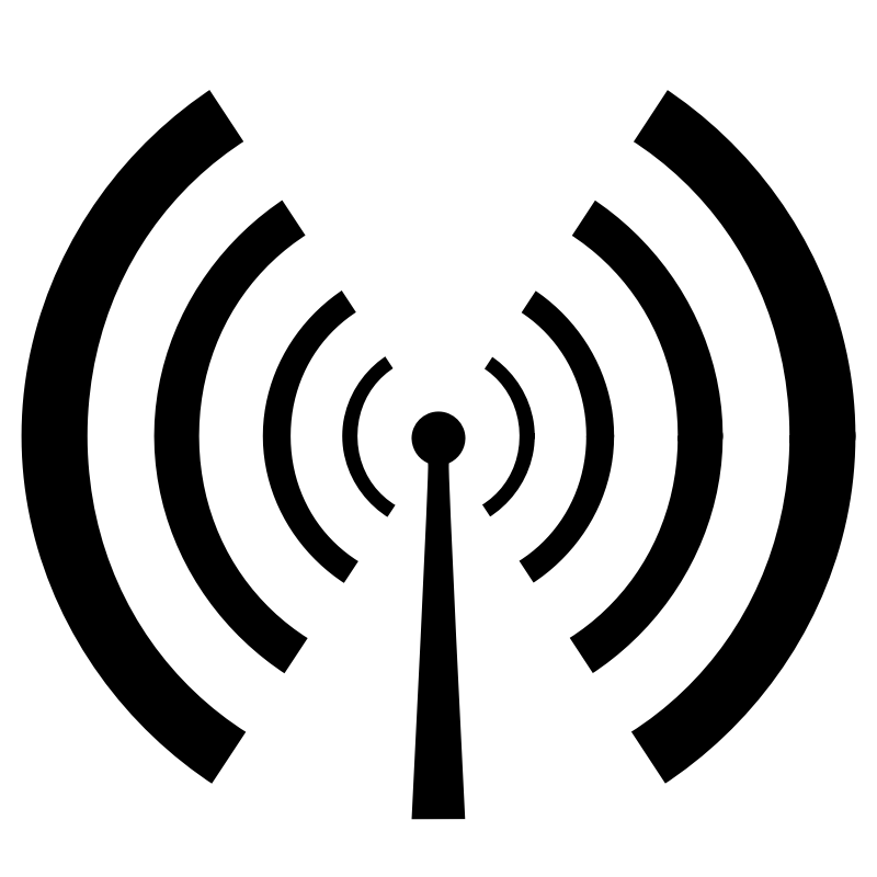 Clipart - Antenna and radio waves