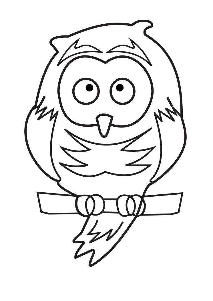 Animal drawings :Owl Coloring Page:Child Coloring and Children ...