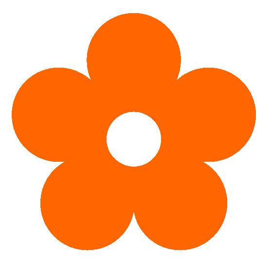 Bright Orange Flowers Clipart