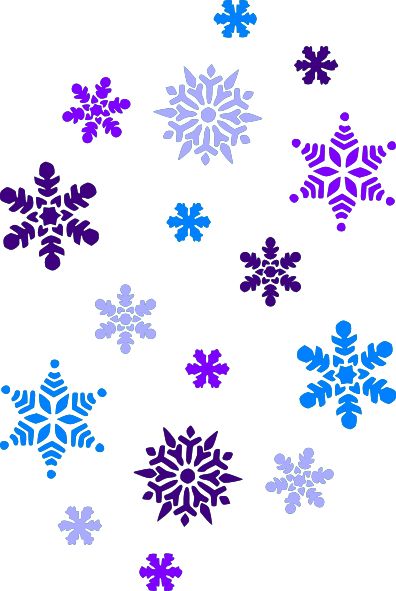 Multi Blue Snowflakes clip art - vector clip art online, royalty ...