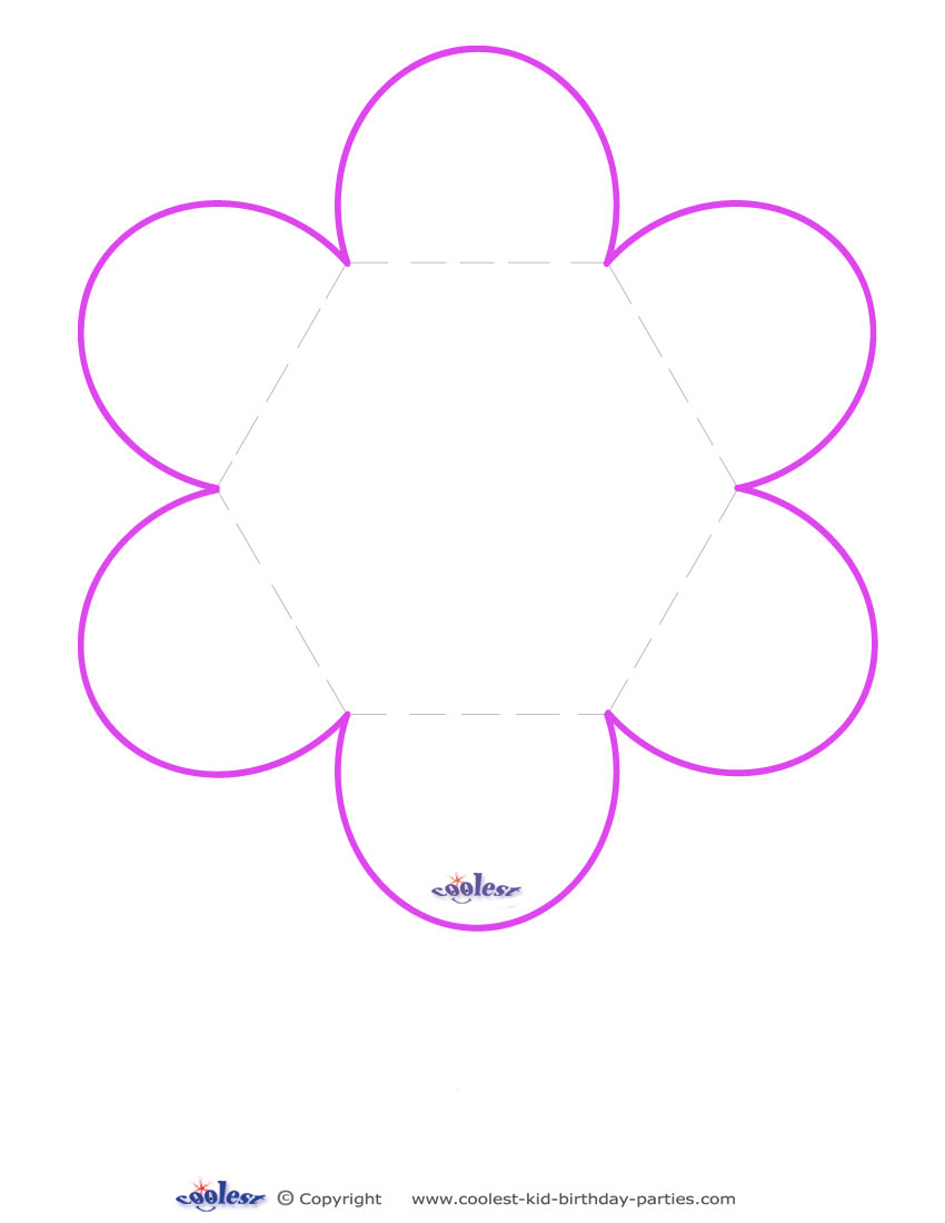 Dramatic image with printable flower template
