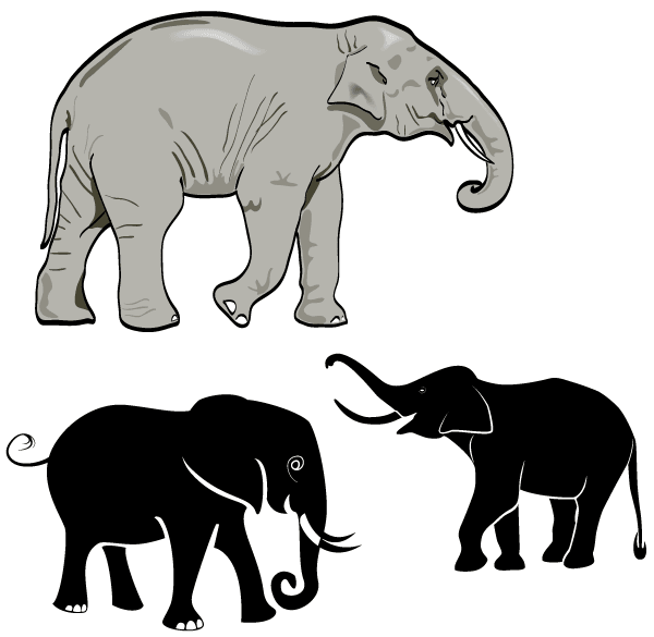 Free Elephant Vector Art | Download Free Animals Vector Graphics