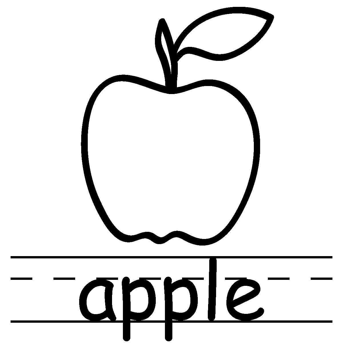 Apple Black And White ...