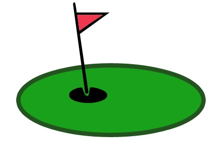 Golf Putting Green Clipart