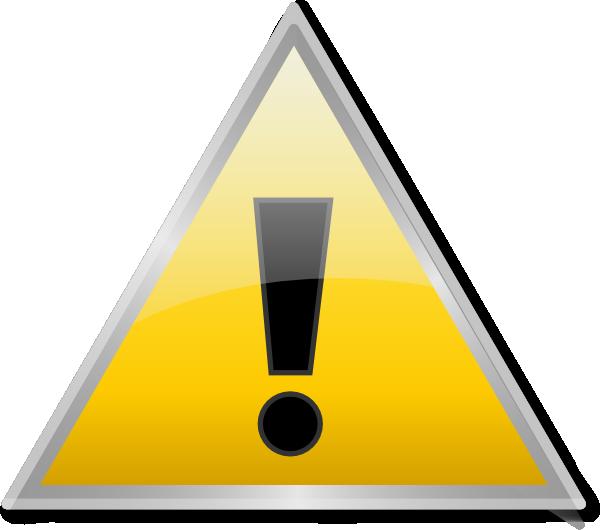 warning icon clipartsco