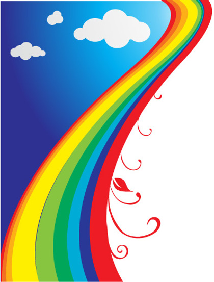 cartoon rainbow pictures cliparts co clip art of rainbows and unicorns clipart of rainbow and tea cups
